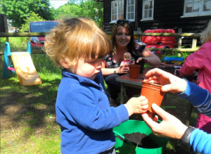 Toddler group - gardening